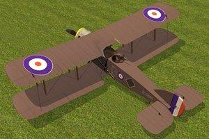 bristol f2b fighter 3d max
