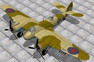 3d model beaufighter bristol vic fighter