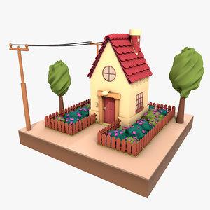 3d model cartoon house