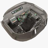 max sci-fi cockpit d