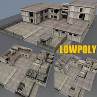 Lowpoly Factory scene