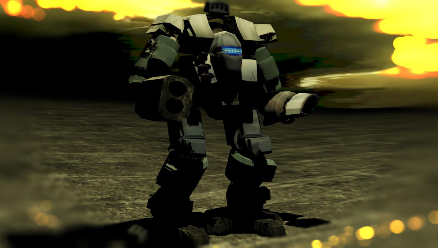heavy mech warrior 3d max