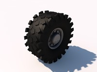 3d model truck wheel