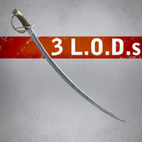 Heavy Cavalry Saber (3 LODs)