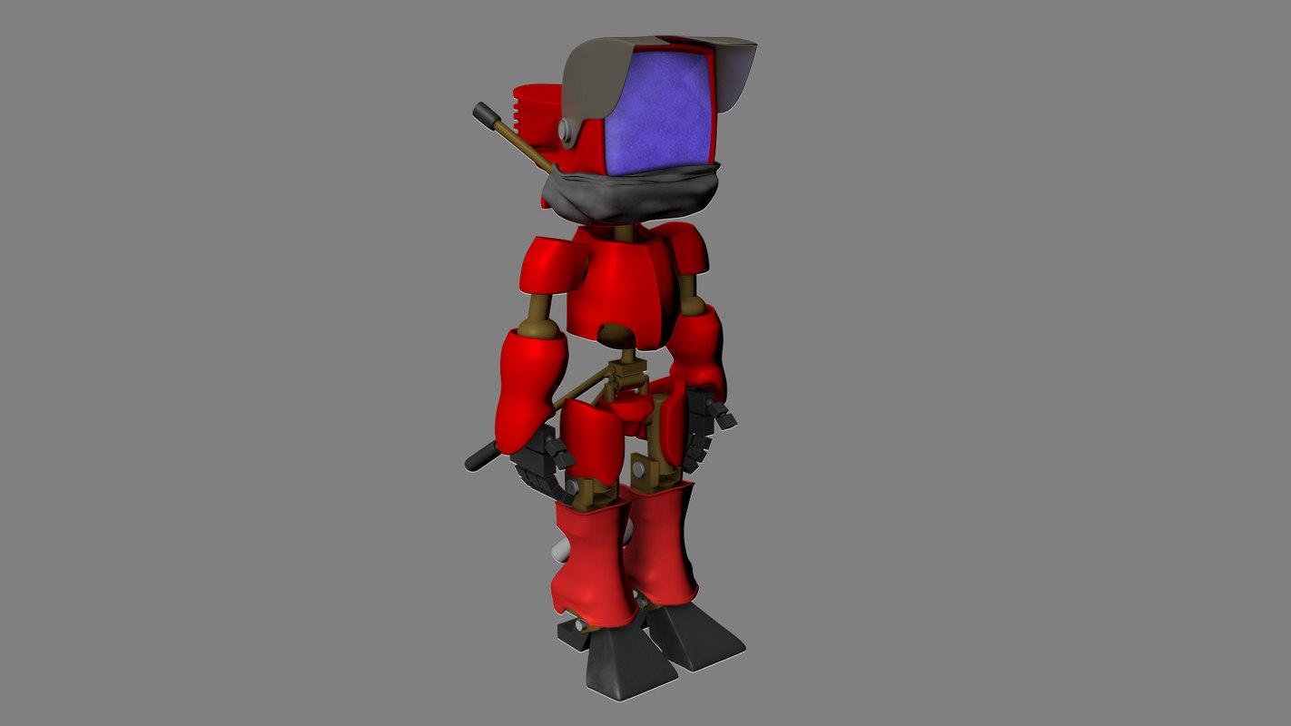 tv walkman 3d model