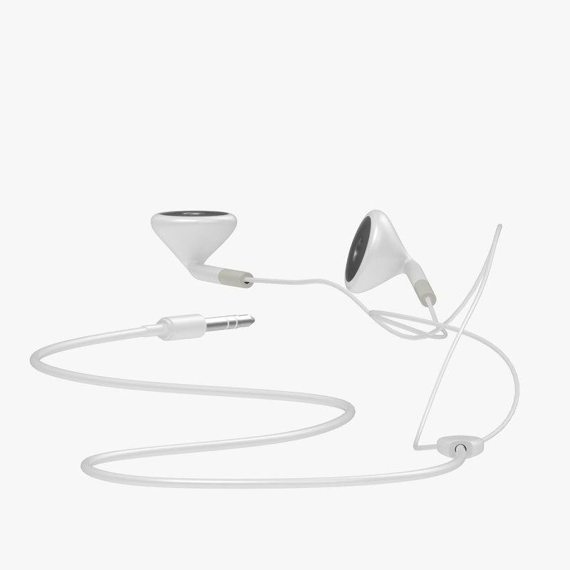 free ear piece 3d model