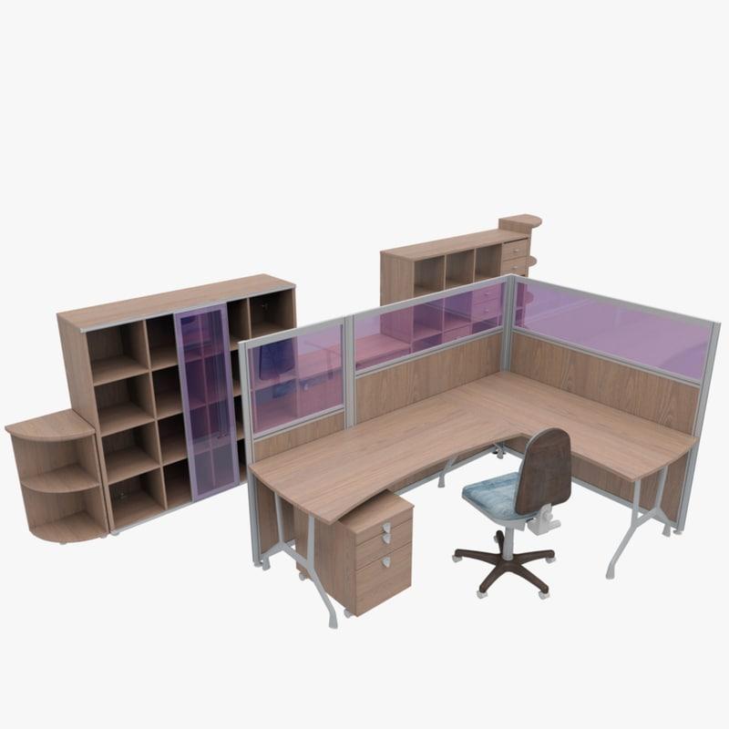 3d office furniture model