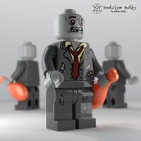3dsmax lego zombie figure