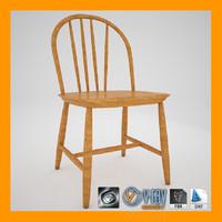 swedish windsor chair 3d max