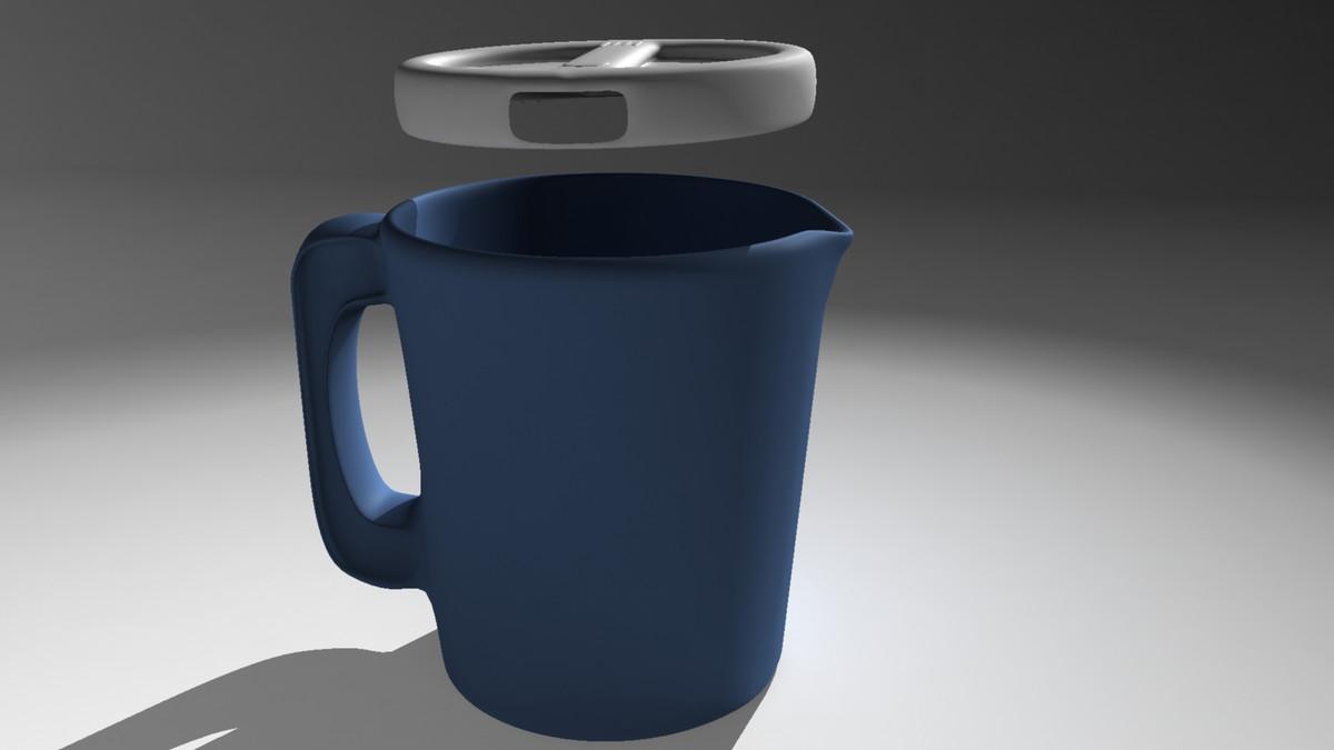 3d plastic water pitcher model