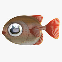 3d cartoon loran fish