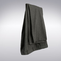 Men's Pants In Gray Wool Hung Folded - 3D Scanned