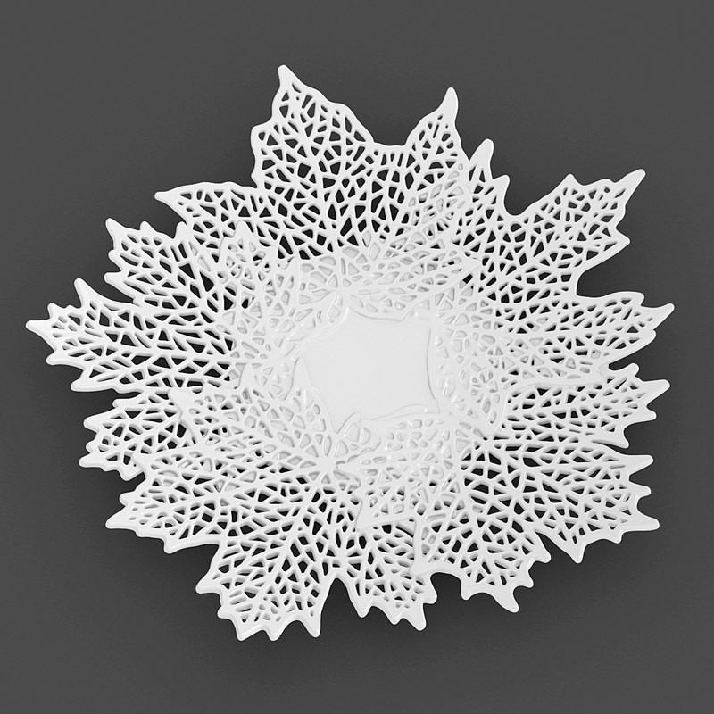 perforated maple leaves bowl 3d max
