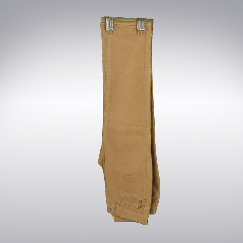 3d corduroy pants scanning model