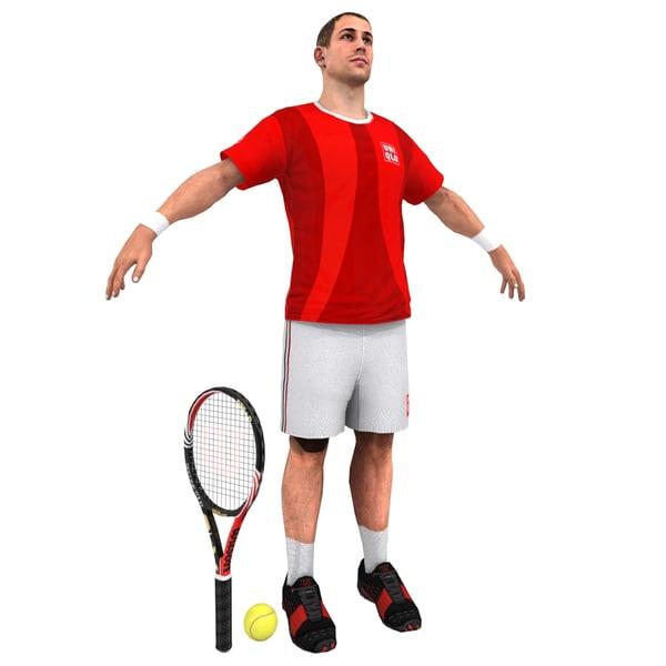 tennis player 3d model
