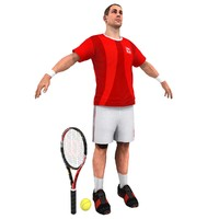 tennis player 3d model