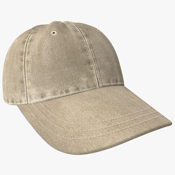 3d model baseball cap 2