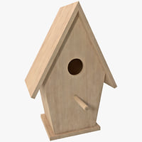 3d model bird house design