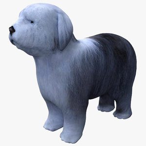 bobtail dog 3d model