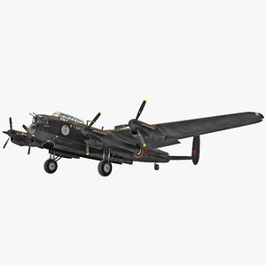 3d british heavy bomber avro lancaster model