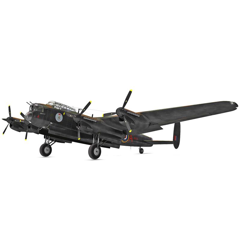 3d british heavy bomber avro lancaster model
