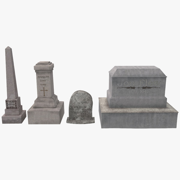 cemetery graves set 2 3d max