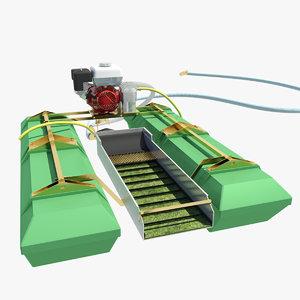 modern 4 inch dredge 3d model