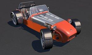 fraser sports car 3d model