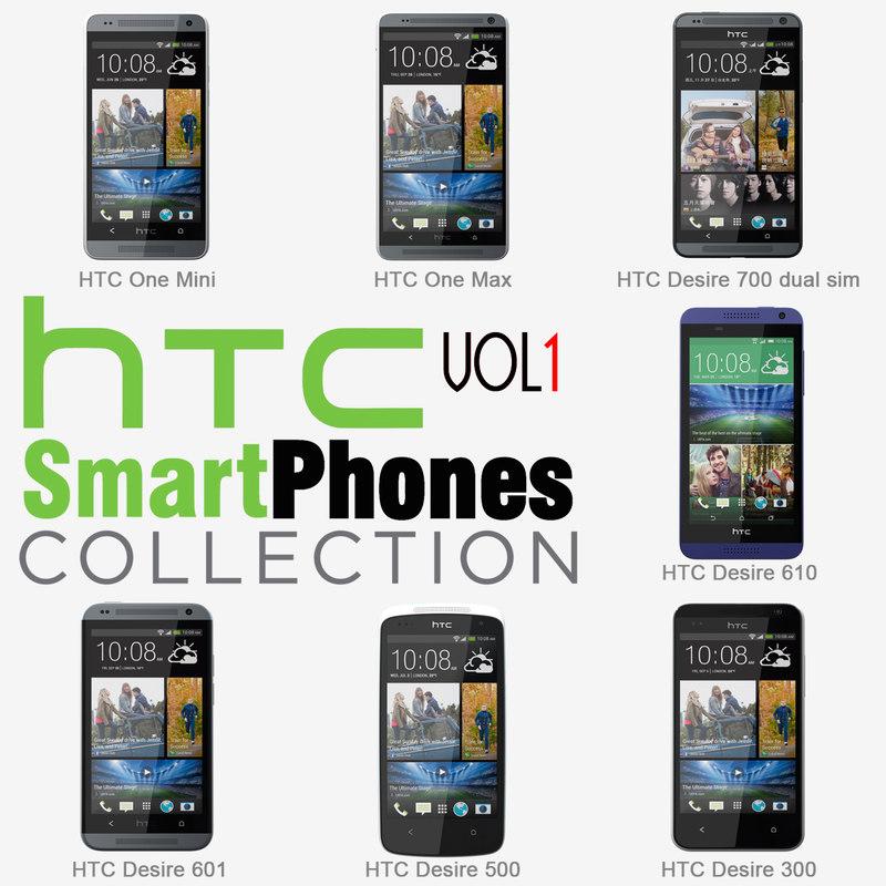 3d 3ds htc smartphones v1 phones