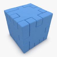 3dsmax happy cube blue