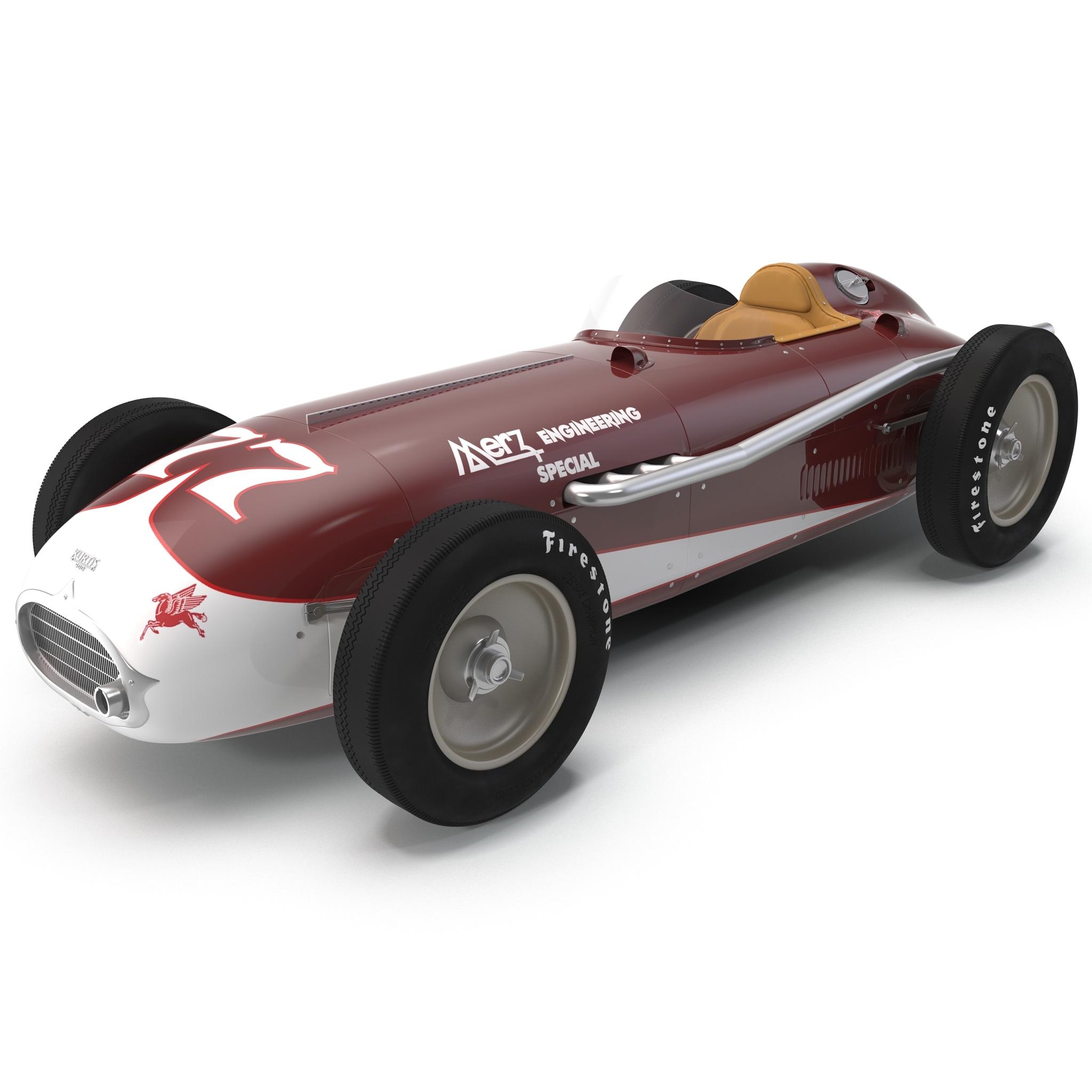 3d model of kurtis kraft 500c 1954