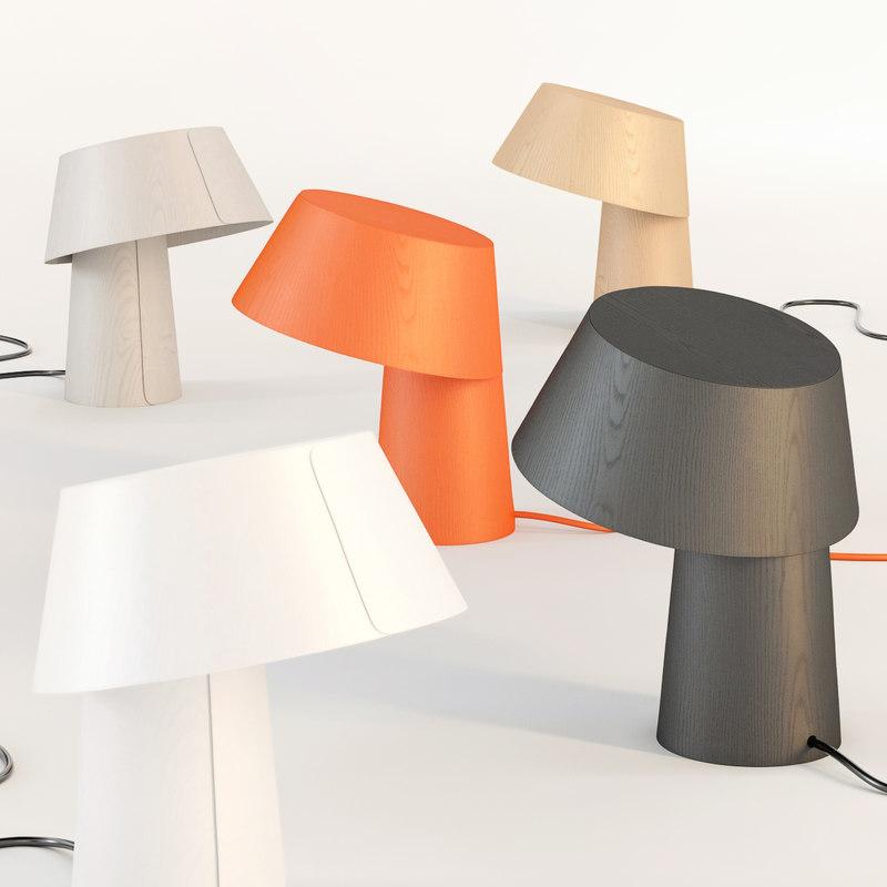 little p table lamp 3d obj
