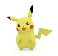 3d model of pokemon pikachu