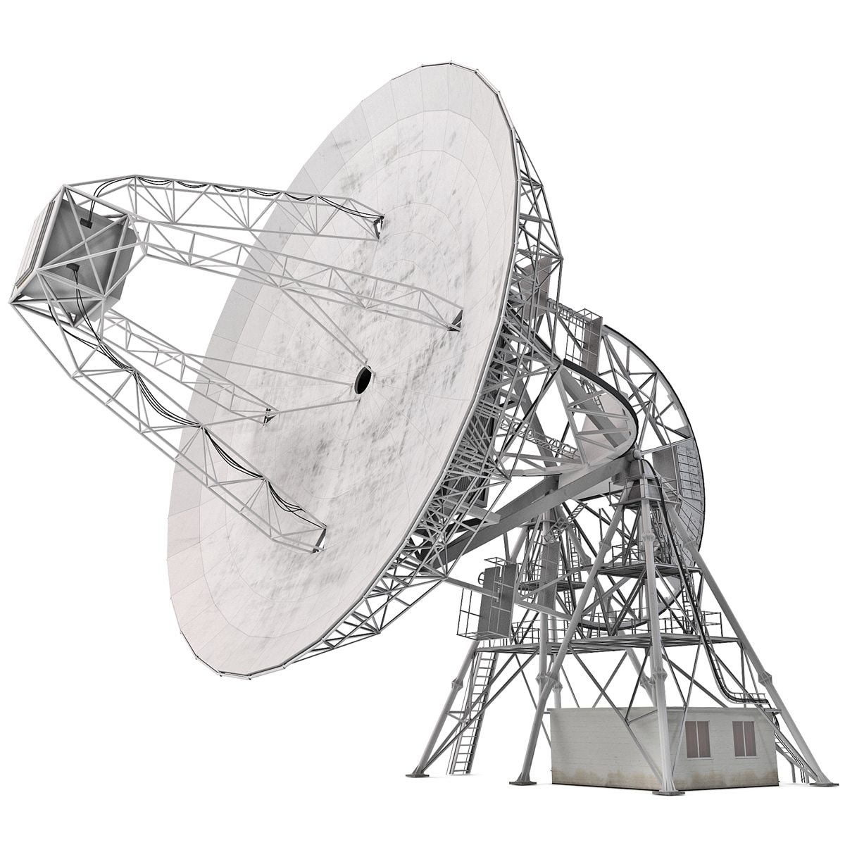 radio telescope observatory 3d model