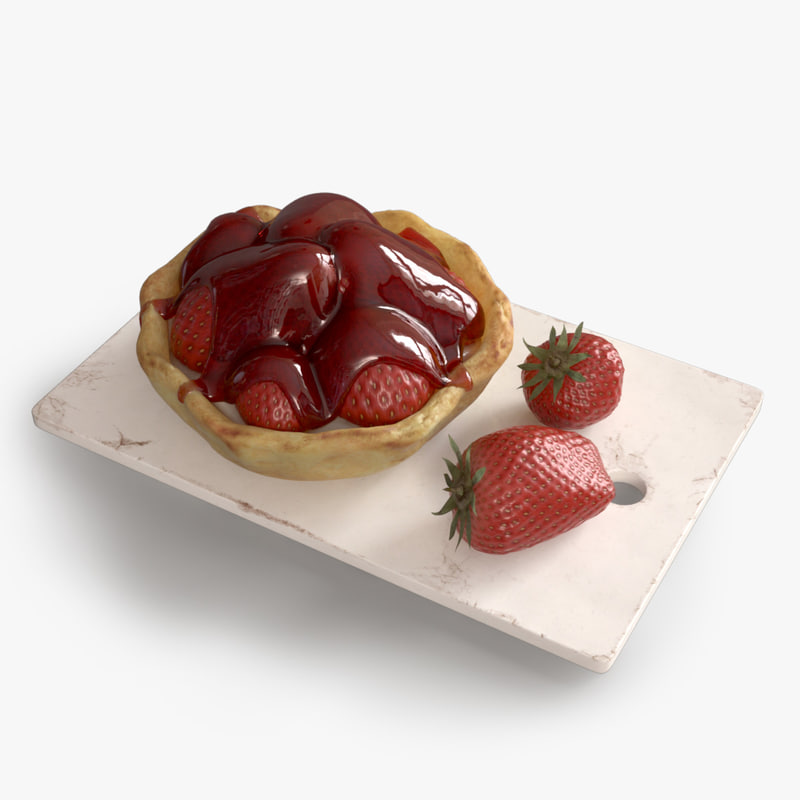 3ds max strawberry pie