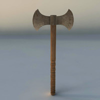 3d obj medieval axe