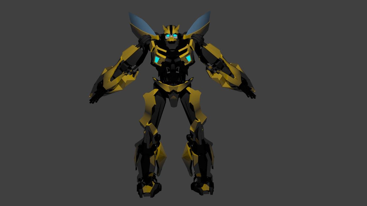 trans bumblebee 3d blend