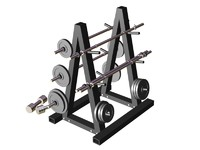 3d weights rack m1 model