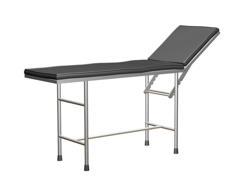 medical examination table 3d model
