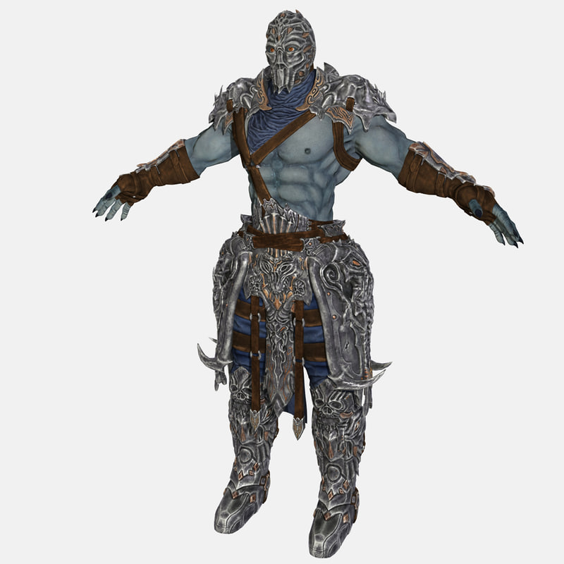 warrior armor 3d model