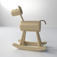 3ds max wood rocking horse
