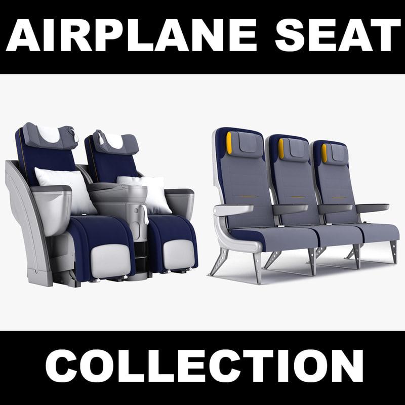 economy seat 3d max