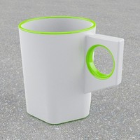 3d simple stylish mug
