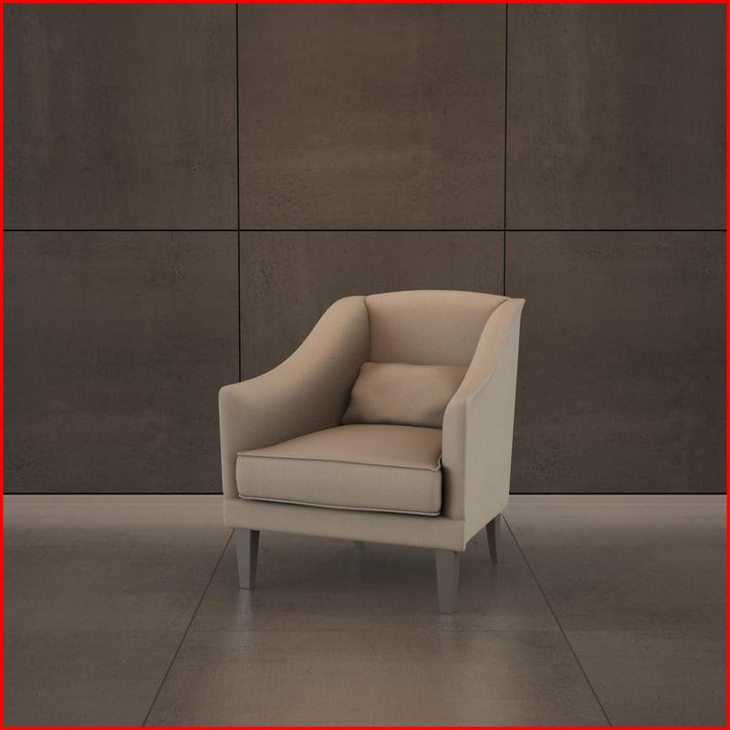 3d nice armchair