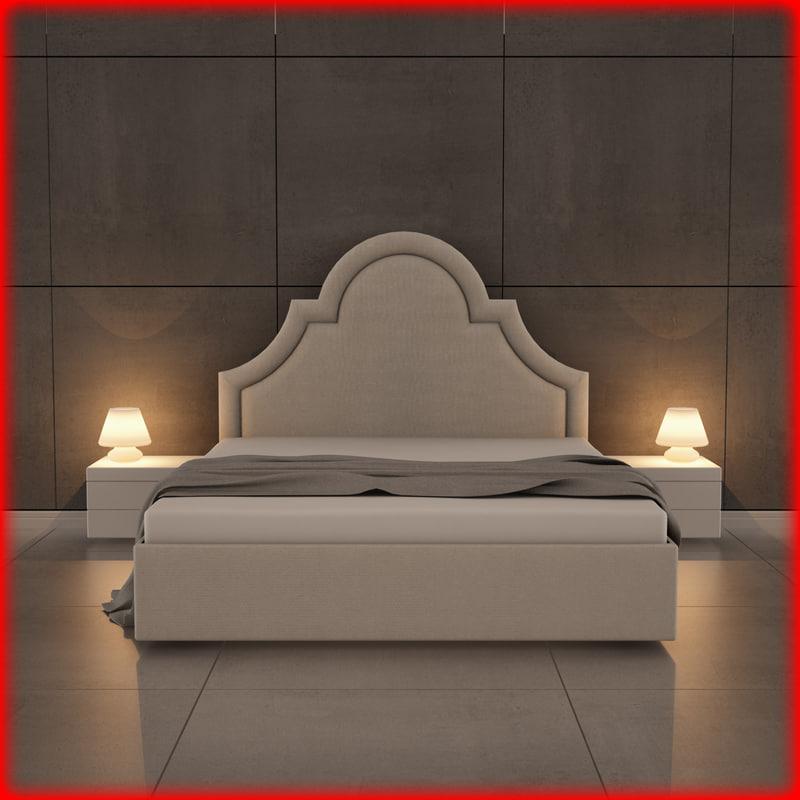 nice bed 01 3d model