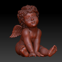 3d angel cherub sitting