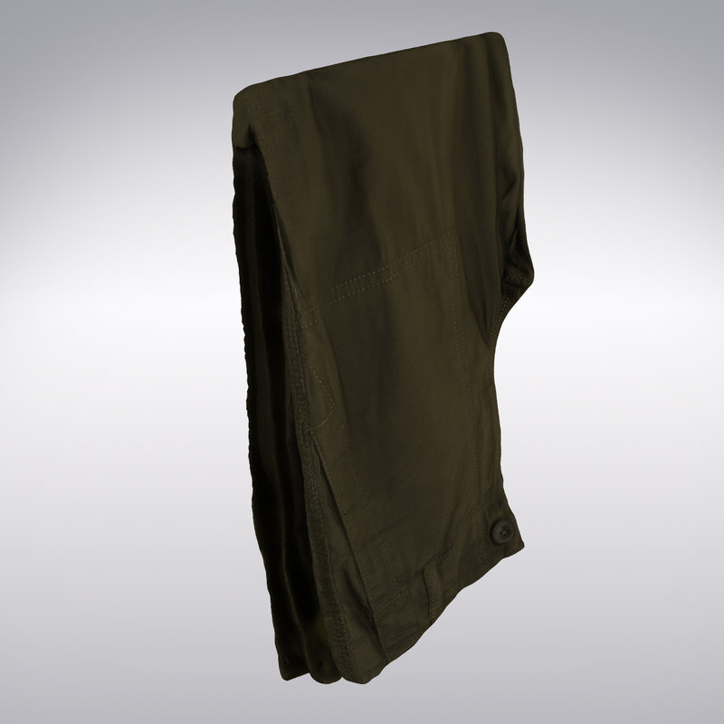 3d casual pants scanning