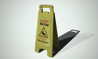 wet floor sign 3d model