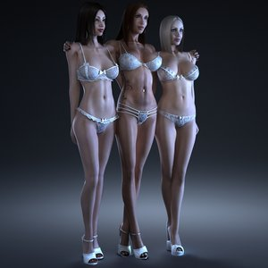 3d max 3 1 female girls