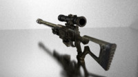sniper rifle fallout 3d model